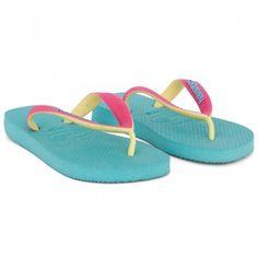 Havaianas Kids Girls Mint Green & Pink Flip Flops | AlexandAlexa