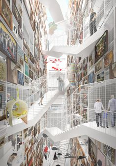 © MVRDV   As an archive, the building will also have spaces inaccessible to the…