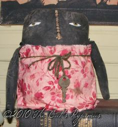 Charlotte-cloth, doll, black, americana, mammy, extreme, prim, primitive, sewing, pattern, craft, project, diy