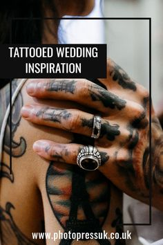 This Celestial shoot was perfect for the tattooed couple modelling. The gorgeous Bride wore a Bex Brides dress and there were lots of stars and moons in the decoration. Tattooed Brides, Brides With Tattoos, Blue And Gold Dress, Wedding Shoot, Wedding Dresses, Cottage Wedding, Celestial Wedding, Modern Tattoos, Wedding Company