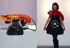 Art Fancy Dress Costume for Parties & Halloween: Salvador Dali artist - Lobster Telephone Costume! Couple Halloween Costumes, Cool Costumes, Halloween Ideas, Halloween Party, Art Costume, Costume Dress, Vintage Fall Decor, Salvador Dali Paintings, Fancy Dress