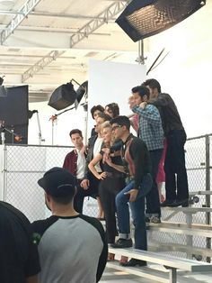 behind the scenes of the grease live photoshoot Grease 2016, Grease Live, Carly Rae Jepsen, Vanessa Hudgens, Live Tv, Musical Theatre, Behind The Scenes, Musicals, Tv Shows