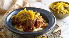 Tfaya with lamb tagine and couscous recipe