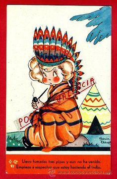 POSTAL COLECCION MARI PEPA , ILUSTRADA MARIA CLARET, ORIGINAL, ANTIGUA , P80913