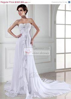 10 Off Fantastic Column Wedding Dress Chiffon by VILAVIdresses, $169.10