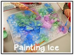 Painting Ice! A fun