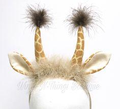A personal favorite from my Etsy shop https://www.etsy.com/listing/529759669/giraffe-costume-headband-giraffe-ears