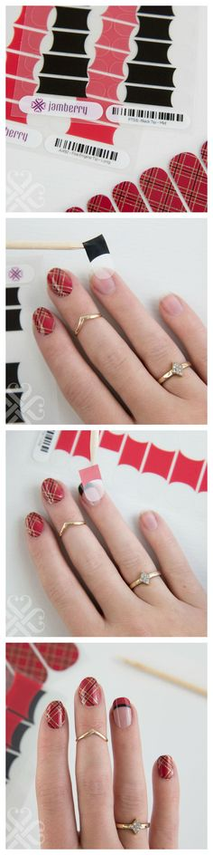 Double French Tip Tutorial with Jamberry Nails. You can get yours here: http://www.lindsayprillaman.jamberrynails.net/