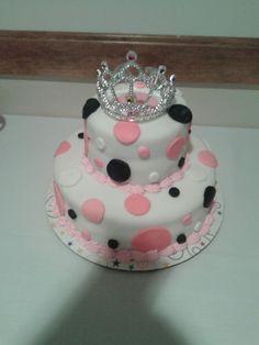 Melissa's 2 tier rolled fondant cake
