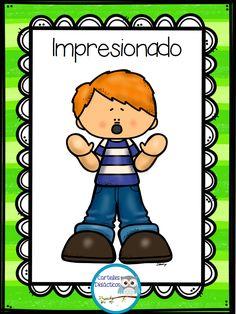 300 Tarjetas para trabajar el vocabulario – Imagenes Educativas Cute Images, Emoticon, Hello Kitty, Kindergarten, Homeschool, Classroom, Clip Art, Feelings, Learning