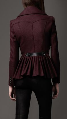 Burberry - PLEATED PEPLUM JACKET........ Im starting to think i should make an entire board for blazers and jackets!