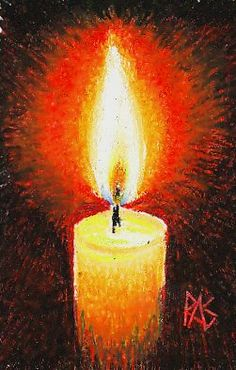 oil pastel art Maimeri Classico oil pastels painting of a candle with flame, wick and glow on a black background. Chalk Pastel Art, Soft Pastel Art, Pastel Artwork, Oil Pastel Paintings, Chalk Pastels, Oil Pastels, Oil Pastel Drawings Easy, Cool Art Drawings, Crayon Drawings