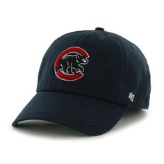 Chicago Cubs Game Franchise Navy Alternate Logo Fitted Hat by Chicago Cubs Colors, Cubs Games, Cubs Hat, Major League, Classic Looks, Fitness Fashion, Team Logo, Baseball Hats, Navy