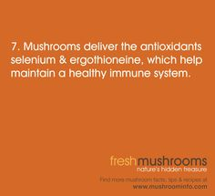 It's Day 7 of National Mushroom Month! Share this antioxidant rich tip! #WFD2012 #IAmVegetable