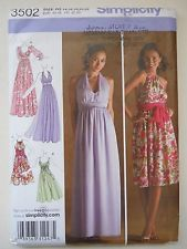 Simplicity Sewing Pattern 3502 Misses' Evening Dress in Size 14-22 UC