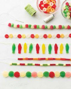PJ Night Activity: Create a Gum Drop Garland with this DIY from Martha Stewart #pjnight
