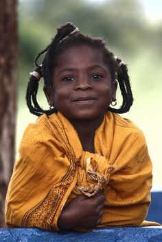 Smiling eyes. Girl - Goba, Mozambique Africa