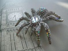 Spider Hair Clip Halloween Wedding Goth Wedding by Parisxox, $56.00