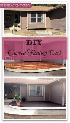 Build a DIY Curved Floating Deck to add curb appeal to your home! Instructions for how I built a freestanding deck in front of my home with a curved front.