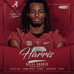 Najee Harris, Bama's funning back, is awesome. I love to watch him jump over the other teams' defensive players. Alabama Football Team, College Football Teams, Crimson Tide Football, Ohio State Football, University Of Alabama, Ohio State Buckeyes, Alabama Crimson Tide, American Football