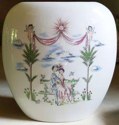 1960s Porcelain Vase Rosenthal Peynet by GourdneckValleyGoods