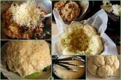 Kalafior zapiekany z mięsem i sosem serowym | Smaczna Pyza Baked Potato, Mashed Potatoes, Food To Make, Healthy Recipes, Baking, Ethnic Recipes, Art, Whipped Potatoes, Art Background