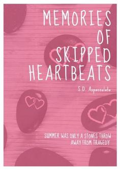 Pink hearts adorable love heart cute stones 'memories of skipped heartbeats'