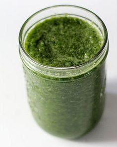 glowing green smoothie.