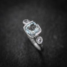Hey, I found this really awesome Etsy listing at https://www.etsy.com/listing/238926013/14k-white-gold-ring-in-aquamarine-and