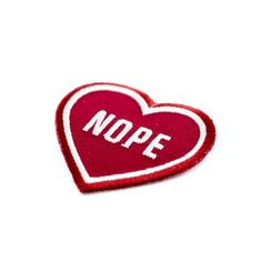 """For that special person in your life - Embroidered patch on burgundy cotton twill - Iron-on adhesive backing - Measures 2"""" tall x 2"""" wide"""