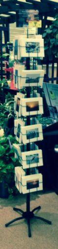 5x7 Greeting Card Display Rack 24 Pocket H V Combo Floor Spinner in Black USA | eBay