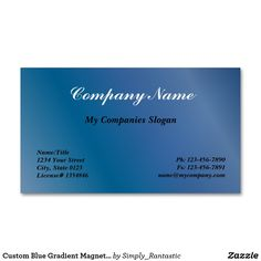 23 best magnetic business cards images on pinterest magnets custom blue gradient magnetic business card colourmoves
