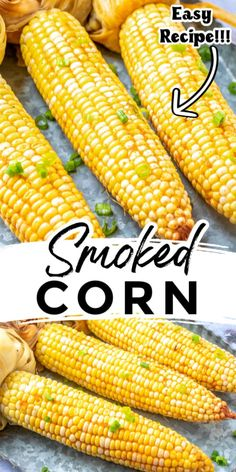 Smoker Grill Recipes, Smoker Cooking, Grilling Recipes, Grilling Tips, Food Smoker, Traeger Recipes, Smoked Meat Recipes, Corn Recipes, Smoked Pork