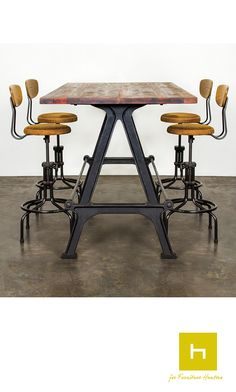 The Kosen Dining Table from District Eight Design is a bar height dining table…