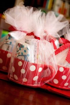 Adorable polka dot mug, Valentine favors