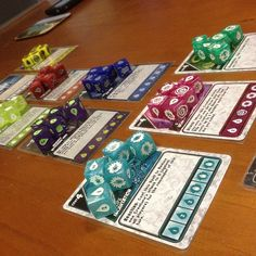 Quarriors - I played with Mike Elliot, one of the designers. Fun, unique deck building game with dice instead of cards. The expansions are more fun to play than the basic version.