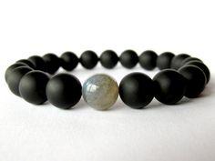 Hey, I found this really awesome Etsy listing at https://www.etsy.com/listing/210503235/mens-matt-onyx-bracelet-labradorite