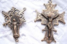 Rosary Set DIY Rosary Center Crucifix by rosebudsupplies