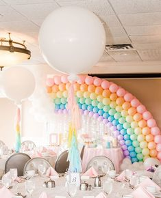 """NJ Kids' Party Planner on Instagram: """"Is Spring is here yet? It is so cold out today! It honor of those fuzzy Spring feelings, I wanted to show you this pastel rainbow birthday…"""" Kids Party Planner, Rainbow Birthday, Spring Is Here, Childrens Party, Pastel, Cold, Feelings, Inspiration, Affair"""
