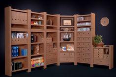 Résultats Google Recherche d'images correspondant à http://www.gestes-environnement.fr/images/meuble_carton.jpg  cardboard shelves