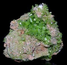 """✯ Pyromorphite from Spain.. Silverwitch:-  Pyromorphite is a mineral that enhances the energies of other minerals. Pyromorphite is said to attract money and other objects of wealth, and can help one see the steps to take to achieve goals, giving it the nickname """"the Victory Stone"""". It also activates and stimulates one's personal energy. Pyromorphite can be used to get rid of creative blocks.It is also used to renew connections with people one has lost...✯"""
