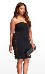 Celebrity Lace Strapless Dress