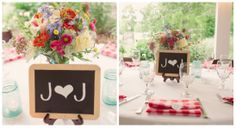 Chalkboard Wedding Centerpiece