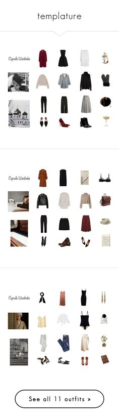 """""""templature"""" by mermaidism ❤ liked on Polyvore featuring Winter, simple, template, capsulewardrobe, Summer, vacation, rome, iwishthiswasmylife, Morocco and winterwardrobe"""