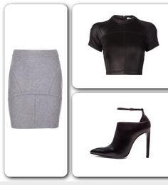 I love Alexander Wang!  #Skirt - T by #AlexanderWang Wool Skirt available at #MyTheresa at 30% off. #Top - T by AlexanderWang Shiny Crop Top available at #Farfetch. #Boots - Alexander Wang Audrey Shoe Boot - available at www.farfetch.com at 30% off. #streetstyle #springtrends #yougotitright #itgirl #fashiondaily #yougotitright  #glam #streetglam  #springfashion #instadaily #edgy #trends #trendstagram #inspiration #instafollow  #fashionaddict #fashionista #fashiondaily #stylist #styleblogger