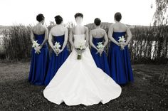 Cute wedding picture idea! This WILL be the color of the brides maid dresses:)