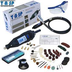 TASP 220 V 130 W Dremel Stijl Elektrische Rotary Tool Variabele Snelheid Mini Boor met Flexibele As en 140 ST accessoires Power Tools