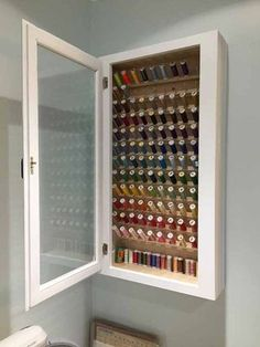 Thread Cabinet Small Space Storage, Sewing Rooms, Plads, Thread Storage, Quilts, House, Ideas, Furniture, Home Decor