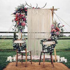 Makramee Wandbehang Tapestry Raumteiler Tür Fenster Vorhang Hochzeit Hintergrund