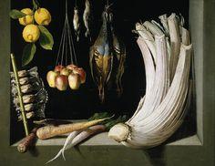 Натюрморт с дичью, овощами и лимонами 1602 г. Музей Прадо В Лувре